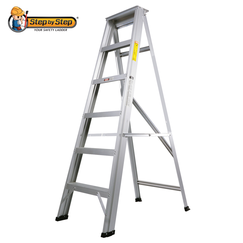 Step By Step Aluminium Single Sided A Shape Step Ladder