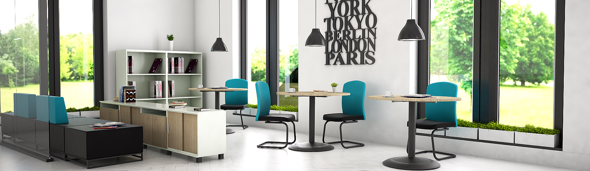 office furniture cleo round waitng table